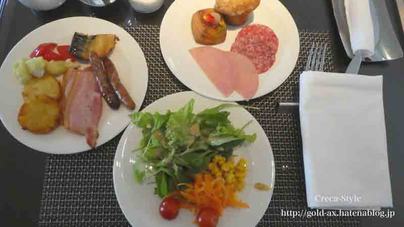 ザ・リッツ・カールトン大阪の朝食のフードプレゼンテーション 朝からガッツリ