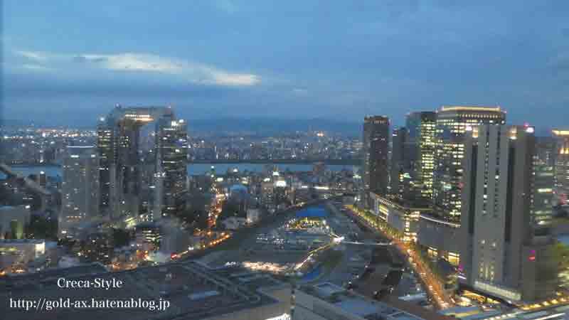 ザ・リッツ・カールトン大阪のクラブジュニアスイートからの眺め
