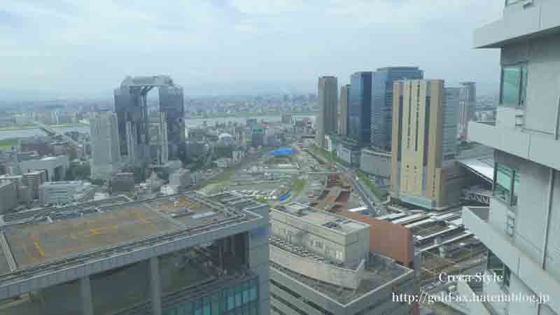 ザ・リッツ・カールトン大阪のクラブジュニアスイートからの眺望