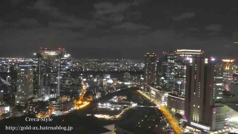 ザ・リッツ・カールトン大阪 35階 クラブジュニアスイートからの夜景