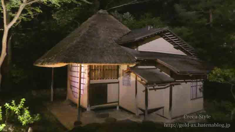 高台寺の書院もライトアップされています