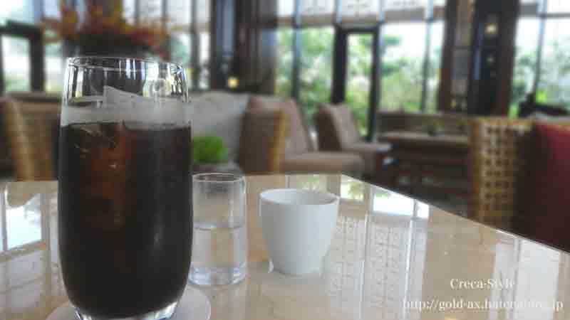 ハイアットリージェンシー那覇沖縄のロビーラウンジでコーヒーをいただきました