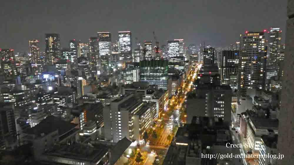 セントレジスホテル大阪のスカイライングランドデラックスツインから夜景