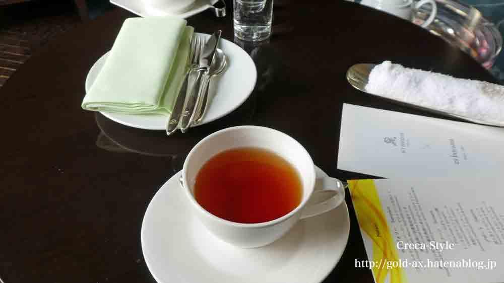 SPGアメックスでセントレジスホテル大阪のフタヌーンティで紅茶