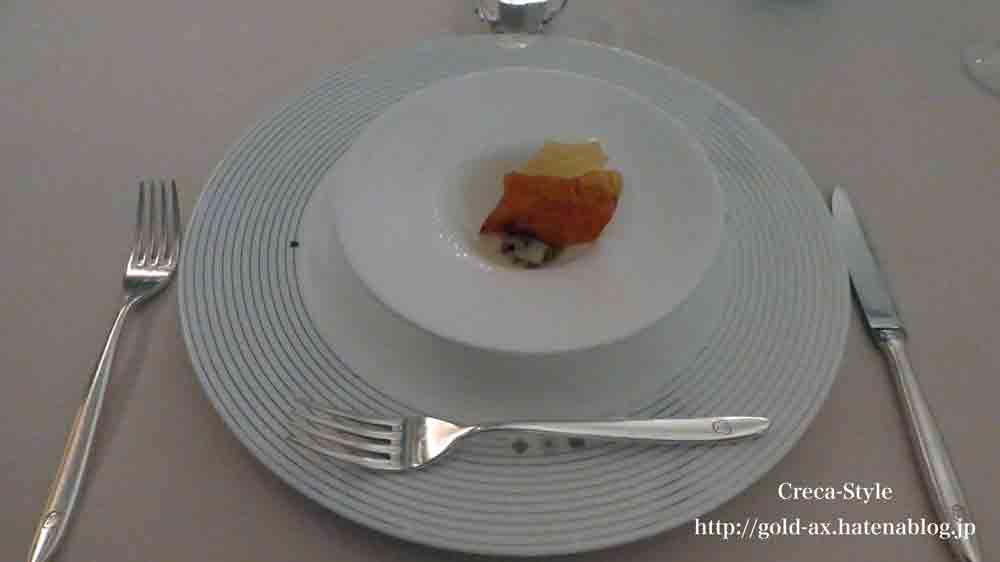 セントレジスホテル大阪 La Veduta(ラベデュータ)でコースディナー