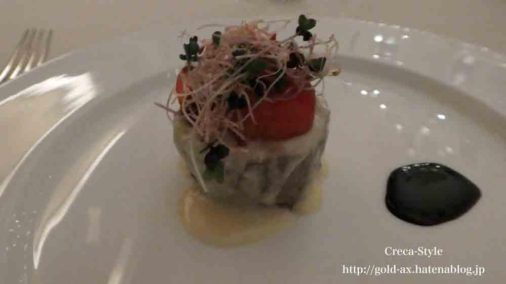 セントレジスホテル大阪 La Veduta(ラベデュータ)でコースディナー 肉料理
