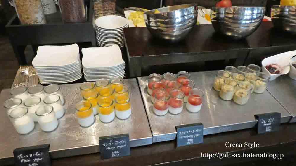 セントレジスホテル大阪の「ルドール」で朝食 ブッフェ ヨーグルト