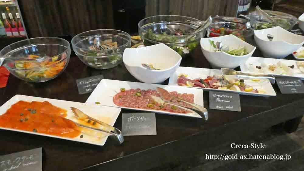 セントレジスホテル大阪の「ルドール」で朝食 ブッフェ サラダ