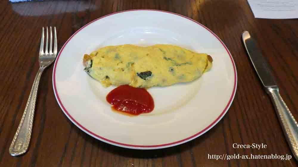 セントレジスホテル大阪の「ルドール」で朝食 ブッフェ オムレツ