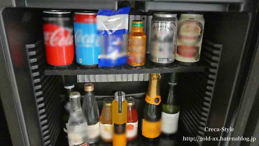 セントレジスホテル大阪のミニバーの冷蔵庫
