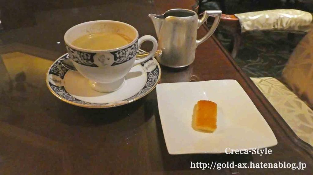 SPGアメックスでリッツカールトン大阪のロビーラウンジでコーヒー