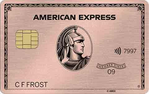 アメックスローズゴールドメタルカード(金属製)