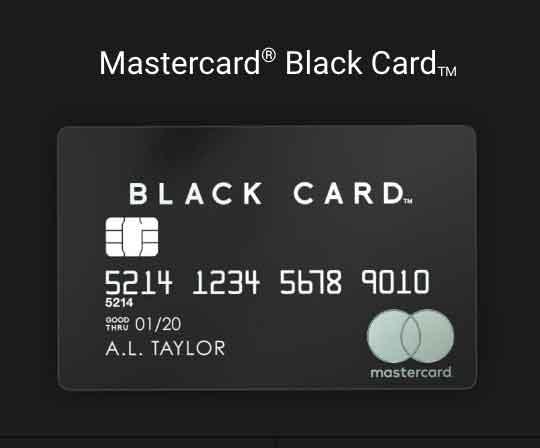 ラグジュアリーカードブラックカード 金属製のクレジットカード