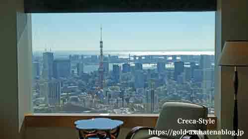 ザ・リッツ・カールトン東京 ミレニアスイート 眺望 東京タワー