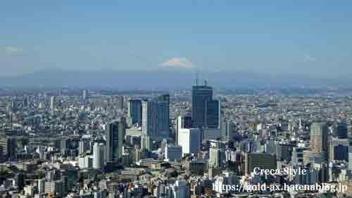 ザ・リッツ・カールトン東京 クラブラウンジから富士山が見える
