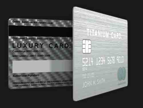 ラグジュアリーカードチタンカード