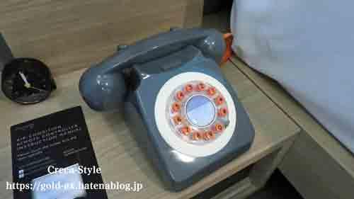 モクシーホテル大阪本町 宿泊記 フロントデスクへ電話
