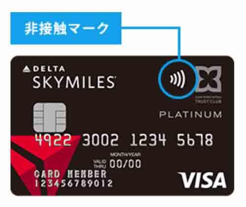 デルタ スカイマイル TRUST CLUBカード ICチップカード