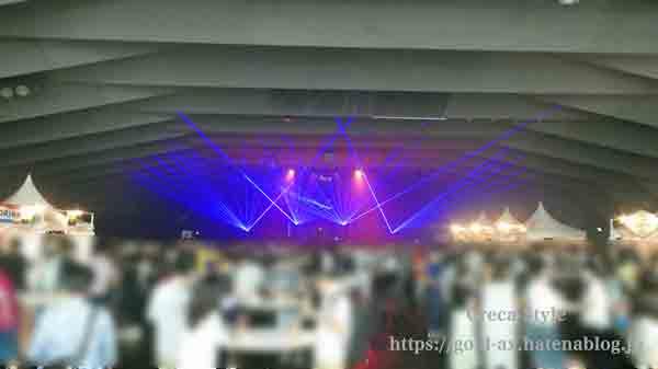 アメックス花火大会2019 HANAVIVA 大さん橋ホール内
