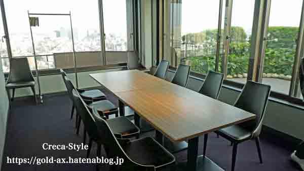 東京マリオットホテル エグゼクティブラウンジ内の会議室