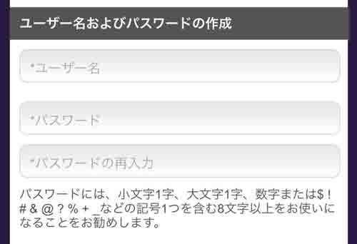 SPGアメックス入会キャンペーン 申込書の記入方法 ユーザー名とパスワード