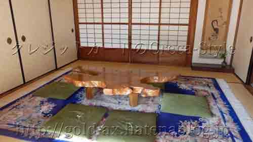 アメックス 高台寺塔頭 圓徳院「京都特別観光ラウンジ」テーブル