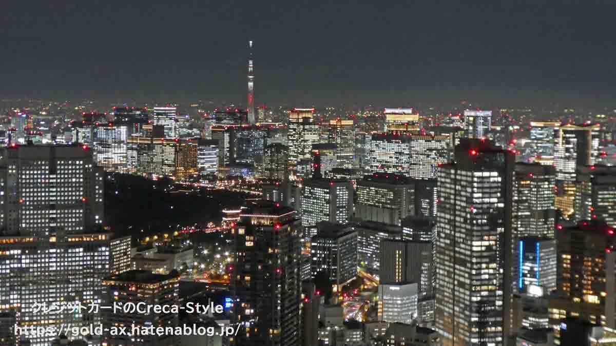 ファイン・ホテル・アンド・リゾート ザ・リッツ・カールトン東京宿泊記 夜景