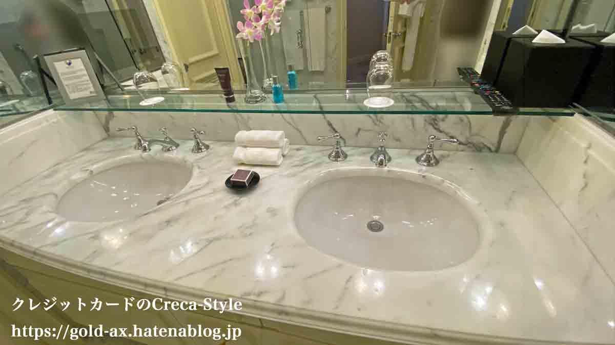 SPGアメックス無料宿泊 ザ・リッツ・カールトン大阪 ジュニアスイート バスルーム