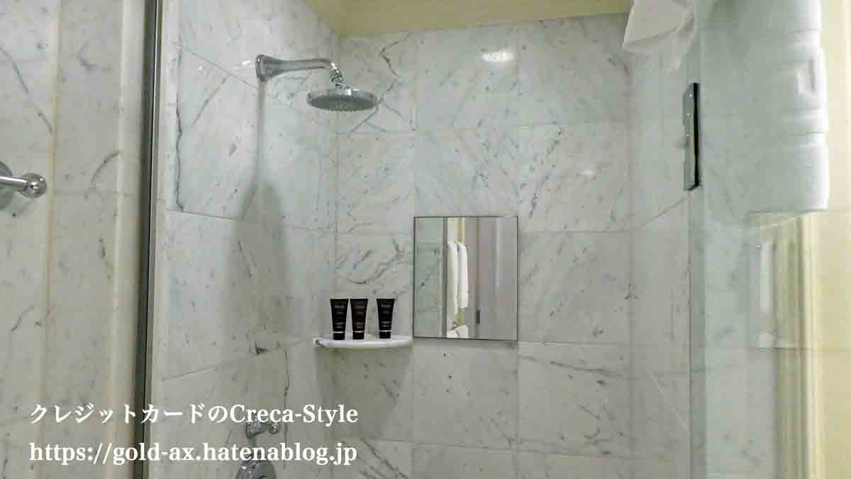 SPGアメックス無料宿泊 ザ・リッツ・カールトン大阪 ジュニアスイート バスルーム レインシャワー