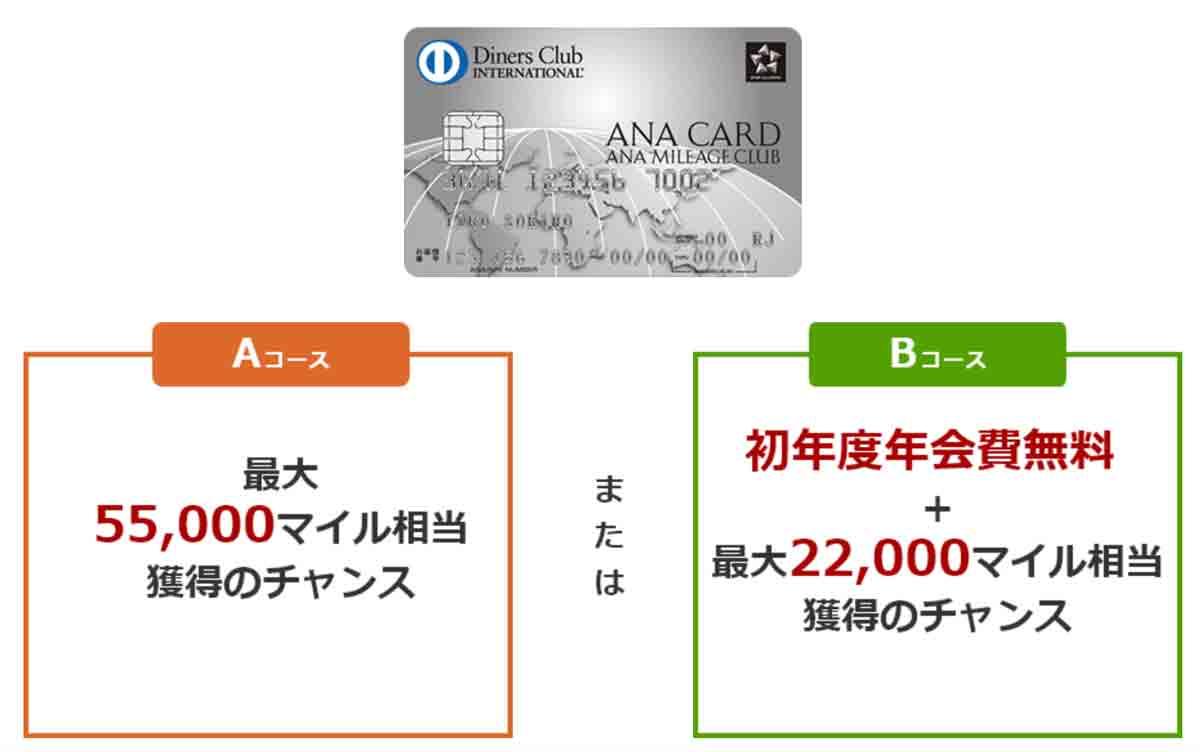 ANAダイナースカード 入会キャンペーン!初年度年会費無料