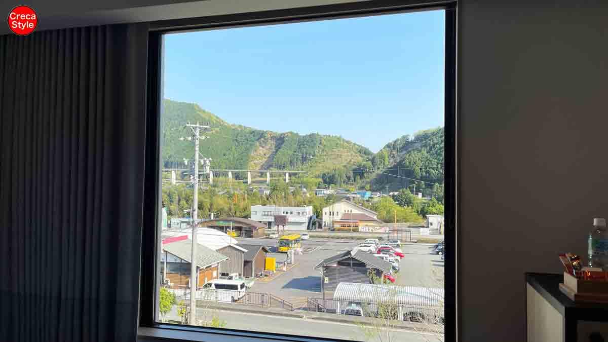 フェアフィールド・バイ・マリオット三重おおだいの客室から見える道の駅 奥伊勢おおだい