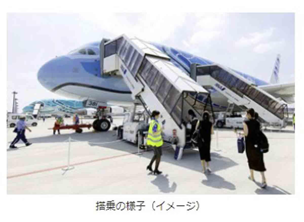 アメックス ANA FLYING HONU チャーターフライト バス移動