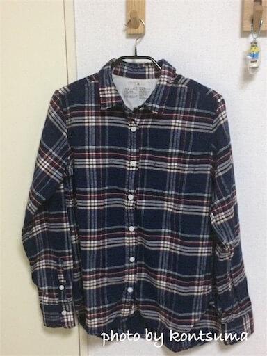 無印良品チェックシャツで大人カジュアル。&親子リンクコーデ