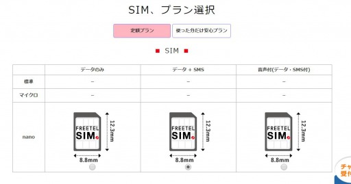 格安SIM FREETEL iPhone iPad