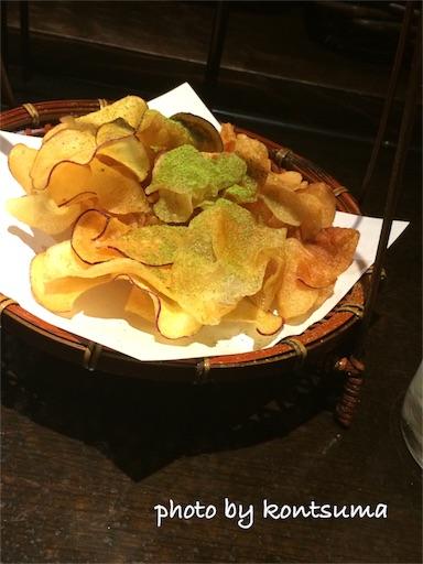 京野菜肉巻き 串焼 満天 お通し ポテチ