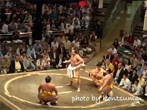 大相撲 国技館 横綱日馬富士土俵入り