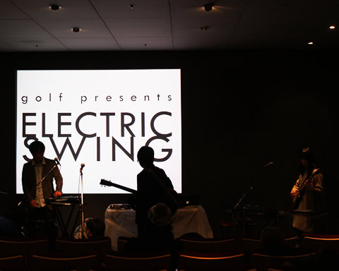 golf presents electric swing apple store ginza