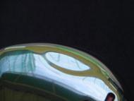 トゥ側の凹み