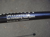 UP5 is a practice club for increasing head speed
