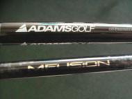 ADAMS SUPER S by MITSUBISHI RAYON CARBON カーボンシャフト & MIZUNO MFUSION U カーボンシャフト