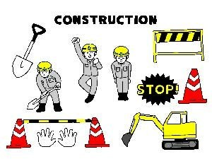 工事現場の重機