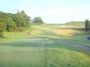 早朝のゴルフ場