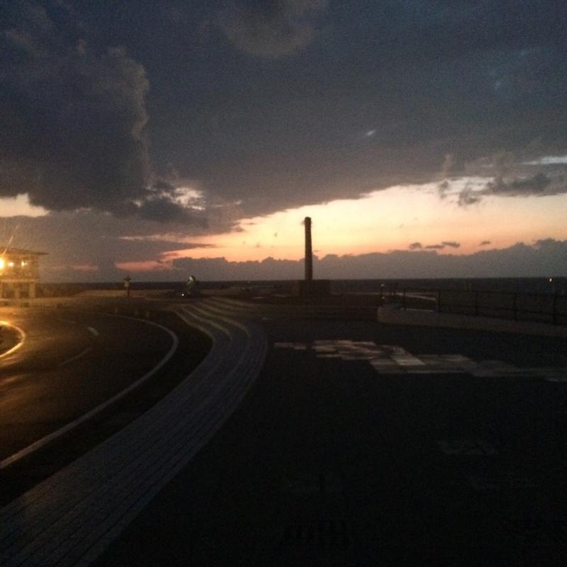 本州最先端の夕日