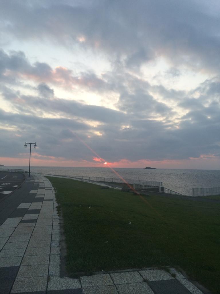 宗谷岬の夕日!間に合いました!