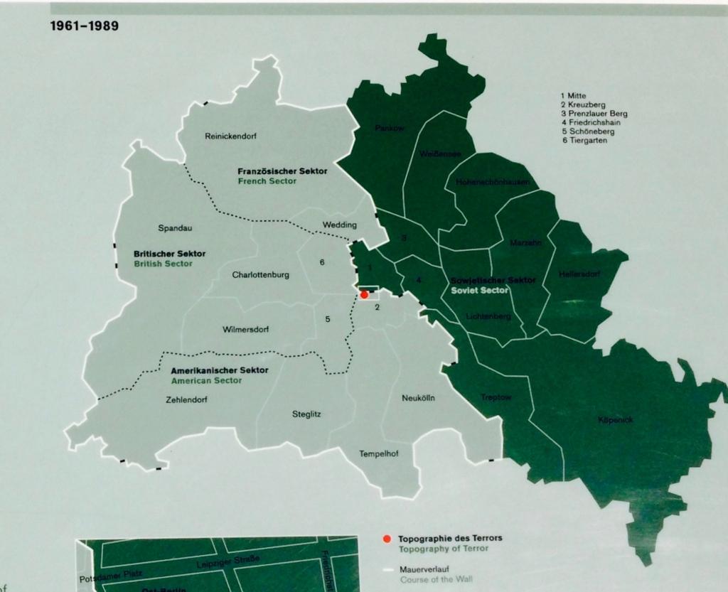 ベルリン分断当時の様子