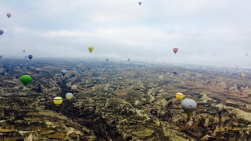 カッパドキアの絶景気球ツアー