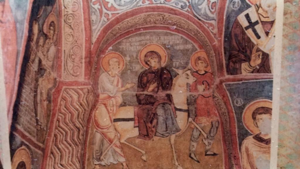 カッパドキアに残るキリスト教のフレスコ画
