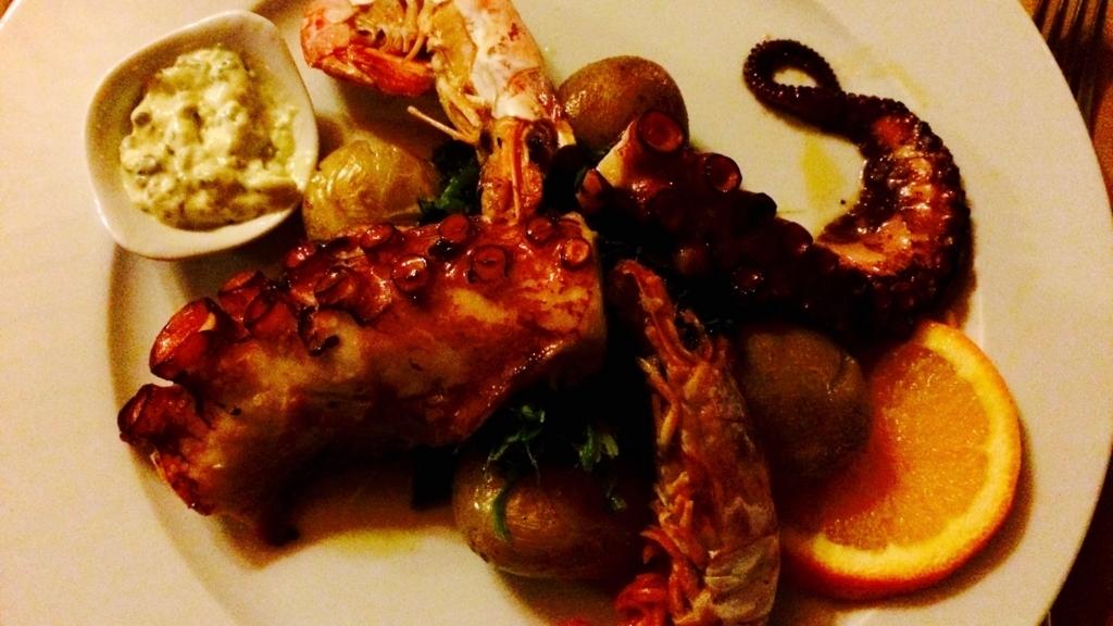 ポルトガル料理と言えば塩味のシーフード