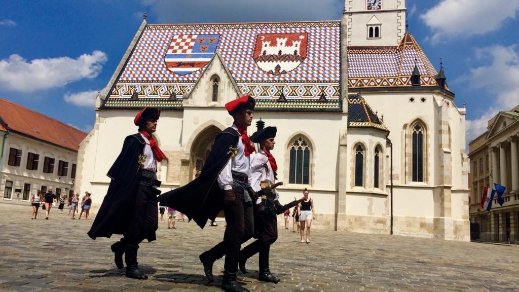 ザグレブ一番の観光スポット「聖マルコ協会」
