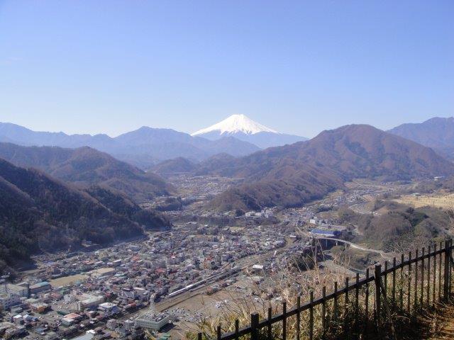 岩殿山山頂からの眺め